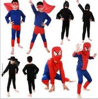 bebek cadılar bayramı kostümleri toptan satış-Çocuk Süper kahraman Cosplay Kostüm Noel Masquerade Cadılar Bayramı Erkek Kız giyim setleri karikatür Avengers bebek kıyafetler C6814