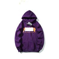 пламенный свитер оптовых-19ss марка мужской дизайнер балахон классический пламя письмо пара толстовки роскошный хлопок модный пуловер байкер бегунов фитнес свитер хип-хоп топы