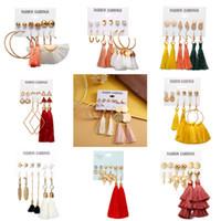 Wholesale diy tassels for earrings for sale - Group buy Fashion Acrylic Shell Earrings Set For Women Bohemian Leopard Tassel Long Stud Earrings Brincos Geometric DIY Jewelry Earstuds M90Y
