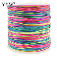 Wholesale chinese knot tassels resale online - 350m Spool mm Nylon Cord Thread MultiColor Tassel Beading String Thread Chinese Knot