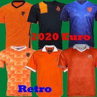 uniformes de futbol naranja negro al por mayor-Retro 1988 Países Bajos fútbol Jersey 88 Basten 1997 1998 1994 camisetas de Holanda Retro Bergkamp 97 98 99 Gullit Rijkaard Davids