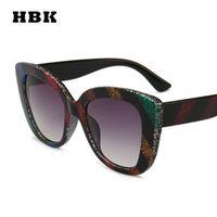 Wholesale gothic cat for sale - Group buy HBK Cat Eye Sunglasses Colorful Stripe Oculos Gothic Retro Women Men Brand Designer Luxury Sun Glasses Shades Gift UV400