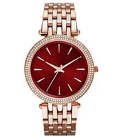 Wholesale water resistant watches free shipping resale online - Dreama New style fashionable personality women s stainless steel quartz watch MK3400 MK3402 MK3406 MK3378 MK3554