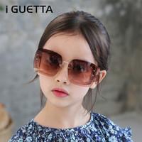 iGUETTA Children Sunglasses 2019 New Fashion Square Kids Sunglass Boys Girls Square Goggles Baby Travel Gasses UV400 IYJB537