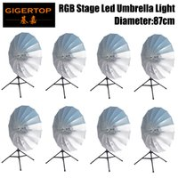 Commercial Lighting Stage Lighting Effect 4in1 Road Case Pack Rgb Led Umbrella Light Eye Catcher Rainbow Effect Dmx512 Control Easy Installation Diameter 87cm Cmy Color Moderate Price