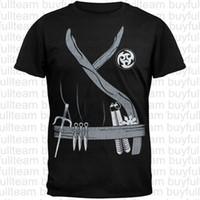 черный костюм убийцы оптовых-Футболка Noir Ninja Assassin костюм мужская черный короткие рукава топы мода шею футболки размер S M L XL 2XL 3XL