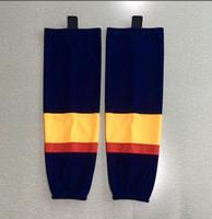 Wholesale ice train resale online - New Ice hockey socks training socks polyester practice socks hockey equipment BLACK