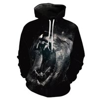 Wholesale hoodies for head resale online - NEW ARRIVAL Black Lion Head Print Stereo Paste Bag Casual Black Hoodie for Young Men Designer Hoodies Fashion Hipster Hoodies