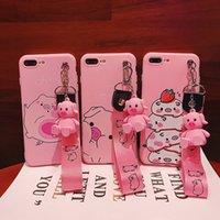 lustige telefonhalter großhandel-Lustige karikatur schwein telefon case für iphone x xs max xr case für iphone 7 6 s 8 plus abdeckung nette puppe ständer halter weiche fällen capa