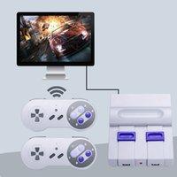spielkonsole großhandel-Minihandfernsehvideospiel-Konsole verdoppeln drahtlose Spiel-Prüfer-klassische Spiel-Spieler-Maschine 2.4G Freies Verschiffen