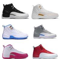 zapatos morados oscuros al por mayor-2019 de alta calidad de 12 Jumpman 12s Gris oscuro Burdeos mujeres de los hombres zapatos de baloncesto 12s gris oscuro Oro de Burdeos púrpura zapatillas de deporte