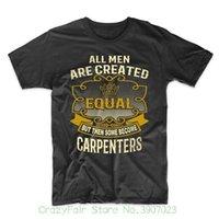 ingrosso corti carpentiere-Tutti gli uomini sono creati uguali ma poi alcuni diventano carpentieri Funny Carpenter Shirt Print T Shirt Man Short