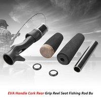 kit de corcho al por mayor-ACS plástico EVA Manija Split Cork Grip trasero Carrete Asiento Caña de pescar Edificio Kit de reparación Para baitcasting / spinning carrete de pesca Nuevo
