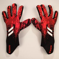 Wholesale winter gloves men leather resale online - 2020 Brand adi Retro Falcons Goalkeeper Gloves Wrapped wrist strap Professional Soccer Gloves Anti slip Gloves latex plam Sports Gloves