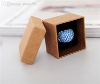 zakka papier groihandel-Großhandels-Verpackung Box Halskette Ring Schmuck Zakka Kraft Paper Mode-Finger-Ring Schmuck-Box 5 * 5 * 3.8cm 50pcs / lot