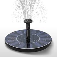 garten wasserbrunnen solarbetrieben großhandel-Solarenergie Brunnen Gartenbrunnen Solarwasserpumpe Solarwasser Sprayer Bewässerung Systerm Gartendekoration ZZA456