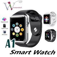 ingrosso guarda iphone sync-2019 Nuovo Smart Watch A1 Clock Sync Notifier Supporto SIM TF Card Connettività Apple iphone Android Phone Donna Uomo Smartwatch