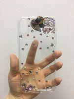 renkli hat taşları telefon durumlarda toptan satış-Elmas Kristal Lüks Bling Rhinestones Telefon Kılıfı Için Samsung S8 Artı Note8 iPhone 8 Artı iPhone X Durumda Renkli