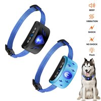 Wholesale small dog barking collars for sale - Group buy Dog Trainer Bark Stop Collar Vibration Rechargeable Waterproof Reflective Collar With Breathing Light Reflective new