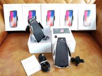 galaxy s5 araba sahibi toptan satış-S5 Otomatik Sıkma Araba QI Kablosuz Şarj iphone XS MAX Galaxy Hava Firar Tutucu 360 Derece Rotasyon Şarj Montaj Braketi Şarj