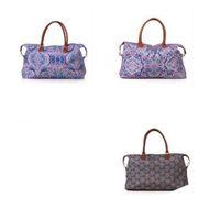 Wholesale popular handbag colors resale online - Lilly Pulitzer Bags Travel Handbag Floral Totes Plaid Printed Colors Mix Fashion High Capacity Popular hz F1