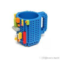 Wholesale brick mug resale online - DIY Block Puzzle Mug Drinkware oz Building Blocks Mugs Piece Build On Brick Creative Mug Coffee Cup
