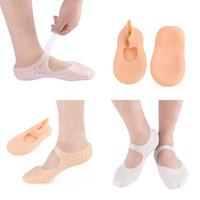 meias de pele para mulheres venda por atacado-Homem E Mulheres Meias Barco Umidade Pele Sock Respirável Primavera Invisível Esporte Sockings Branco Tez Macio Antiderrapante 5 8ydD1