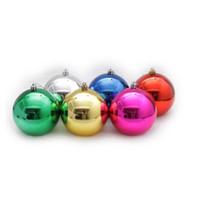 árbol de navidad adornos de bolas de oro al por mayor-Colgando decoraciones de la ventana chapado en oro bola de luz de navidad para el árbol de navidad fiesta en casa adorno decoración del árbol