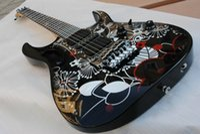 Wholesale guitars tremolo china resale online - China Black JEM7V Steve Vai Guitar black Floyd Rose Tremolo HSH black Pickups electric Guitar