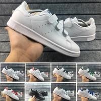 meninos sapatos quentes venda por atacado-2019 Hot Sale Da Moda Amantes Stan Smith Gancho Loop Das Mulheres Dos Homens Meninos e Meninas Calçados Casuais Quentes Tamanho EUR36-45