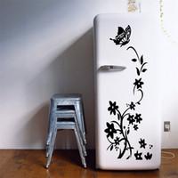 siyah buzdolabı toptan satış-Çiçek Asma Buzdolabı Mıknatısları Yatak Odası Dolap Sticker Oturma Odası Duvar Paster Dekorasyon Malzemeleri Siyah Deneme Sipariş 8 6lf C1