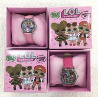 Wholesale fashion cartoon watch for sale - Group buy LOL Surprise Children Wristwatch Kids Cartoon Watches With Boxes Gifts W0012