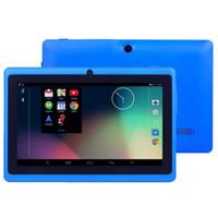 china touch screen android venda por atacado-7 polegada tablet pc com wifi 512 MB de RAM e 8 GB ROM Allwinner A33 Quad Core Android 4.4 Tablet PC Capacitivo Dual Camera Q88 tablet