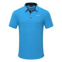 mangas de golfe para homens venda por atacado-2019 homens traje de golfe primavera e verão de manga curta t-shirt de secagem rápida respirável roupas de golfe jersey