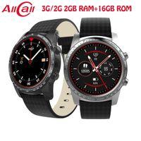 relógio 2gb venda por atacado-ALLCALL Relógio Inteligente 3G / 2G Relógio-Telefone MTK6580 Quad Núcleo 1.3 GHz 2 GB / 16 GB GPS MP4 Android 5.1 BT 4.0 Wifi 3G Conexão Smartwatch Telefone W1 BA