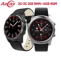 смотреть 2gb оптовых-ALLCALL Smart Watch 3G / 2G Watch-Phone MTK6580 Четырехъядерный процессор 1,3 ГГц 2 ГБ / 16 ГБ GPS MP4 Android 5.1 BT 4.0 Wi-Fi Соединение 3G Смарт-часы Телефон W1 BA
