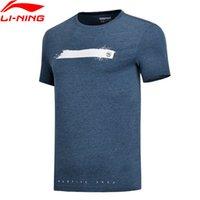 li jersey venda por atacado-Li-ning Homens Basquete Série Jerseys 100% Algodão Respirável Regular Fit Forro Comfort Sports T-shirt Tee Ahsn043 Mts2752 SH190629