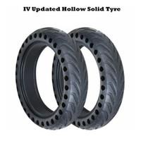 roda elétrica polegada scooter venda por atacado-Peças duráveis do pneu contínuo da substituição não-inflável da roda do preto de 8.5 polegadas Peças duráveis do pneu de borracha actualizadas para o