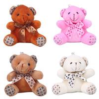 bebek kızları için doğum günü hediyesi toptan satış-Teddy Bear Peluş oyuncaklar 10 cm / 4 inç Doldurulmuş Hayvanlar Bebekler anahtarlık Bebek Hediye Kız Oyuncaklar Düğün Atma Doğum Günü Partisi Dekorasyon C825