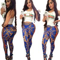 conjuntos de moda de moda al por mayor-2019 Mujeres Verano Chaleco sin mangas Chándal Diseñador de lujo Crop Top + Flora Pantalones 2 piezas Set de moda de marca Trajes Traje de moda Streetwear C52904