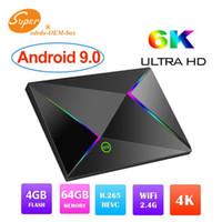 usb 265 venda por atacado-New hot m9s z8 allwinner h6 smart android 9.0 caixa de tv 4 gb 32 gb 4g h.265 usb 3.0 IPTV PK X96 MAX Set Top Box 4 GB 64 GB