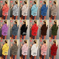 Wholesale flannel yoga pants for sale - Group buy Women flannel Pyjamas hoodie shorts sportswear letter pullover short pants nightdress tracksuit lady fall winter outfits