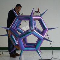 geometrische figur großhandel-Aufblasbare geometrische Figur, die kundengebundenen Luft-Kunst-Gebrauch für neue Speicheröffnung hängt