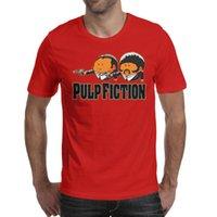 ingrosso sottogonne arancioni-Stampa di design per uomo Pulp Fiction Logo arancione maglietta rossa design maglietta intima per creare una maglietta impressionante maglietta in cotone umoristico mo