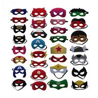 erkek çocuklar için serin bardaklar toptan satış-Sevimli Süper Kahraman Gözlük Maske Çocuklar Erkek Bebek Kız Fantezi Elbise Kostüm Serin Süslemeleri Sıcak Avengers Heros Masquerade Göz Maskesi