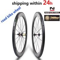 venda de bicicletas de estrada de carbono venda por atacado-Venda quente 700C Carbono Road Bike Roda Novatec A271 / F372 Hub Pillar Falou 30/38/47/50/60/88 mm Clincher Wheelset