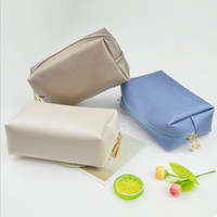 Wholesale cosmetic bags resale online - Fashion portable cosmetic bag Simple Shoecustomizable bags Travel Wash bag Dust of finishing Customized logo Home Furnishing