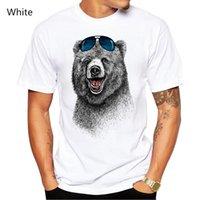 urso rindo venda por atacado-Moda Urso Laughing Homens T-Shirt Men Manga Curta O Mais Feliz Urso Retro Impresso Camisetas Casual Tops Engraçados
