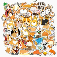 Wholesale trolley case luggage for sale - Group buy Low Price New Cute Pets Corgi Car Doodles Stickers Luggage Trolley Case Laptop Skateboard Guitar Waterproof Doodle Stickers