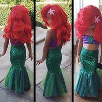 volles schwimmkostüm großhandel-Baby Mädchen Voll Meerjungfrau Set Kostüm Meerjungfrau Bikini Bademode Badeanzug Badeanzug für Mädchen Kinder Bikini Kind Badeanzug